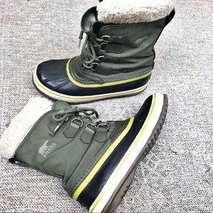 Sorel green insulated winter boot women's size 7